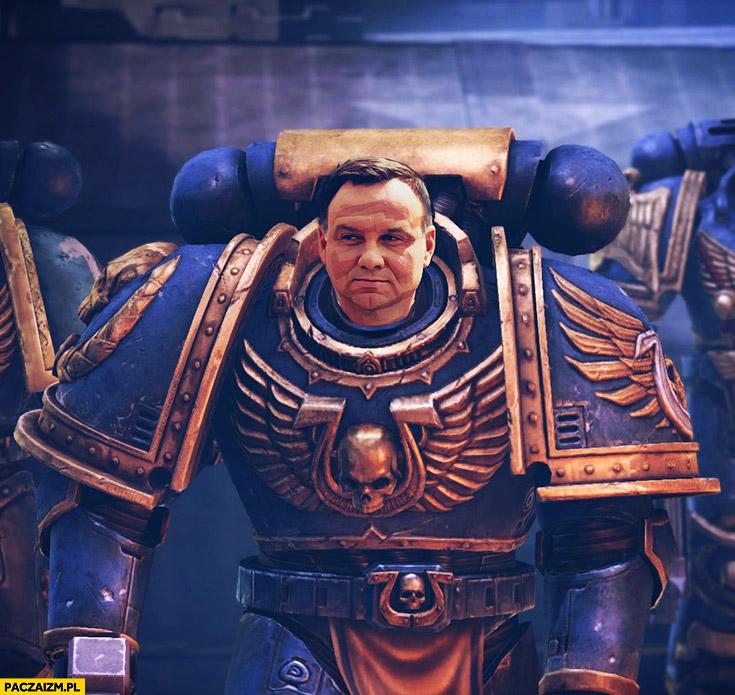 Andrzej Duda w zbroi robot przeróbka