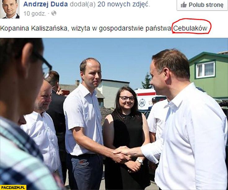 Andrzej Duda wizyta w gospodarstwie Państwa Cebulaków