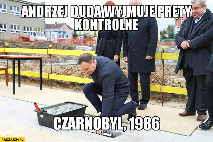 Andrzej Duda wyjmuje pręty kontrolne, Czarnobyl 1986
