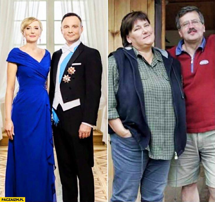 Andrzej Duda z żoną Bronek Komorowski z żoną porównanie