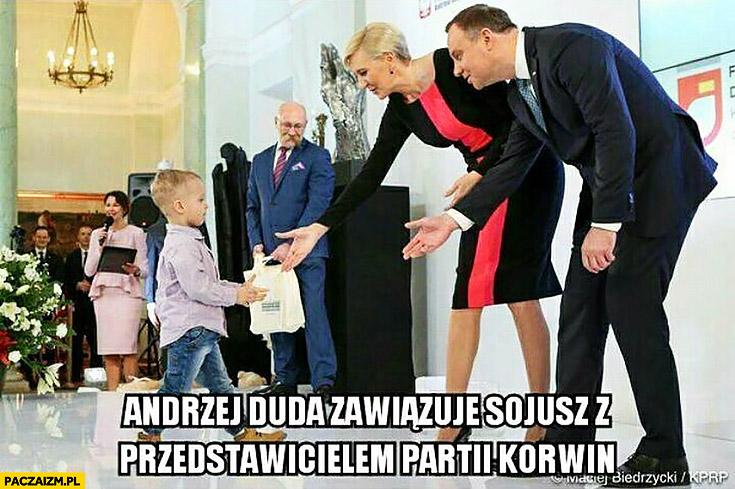 Andrzej Duda zawiązuje sojusz z przedstawicielem partii Korwin dziecko