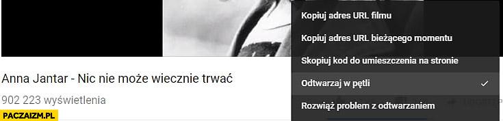 Anna Jantar nic nie może trwać wiecznie odtwarzaj w pętli YouTube