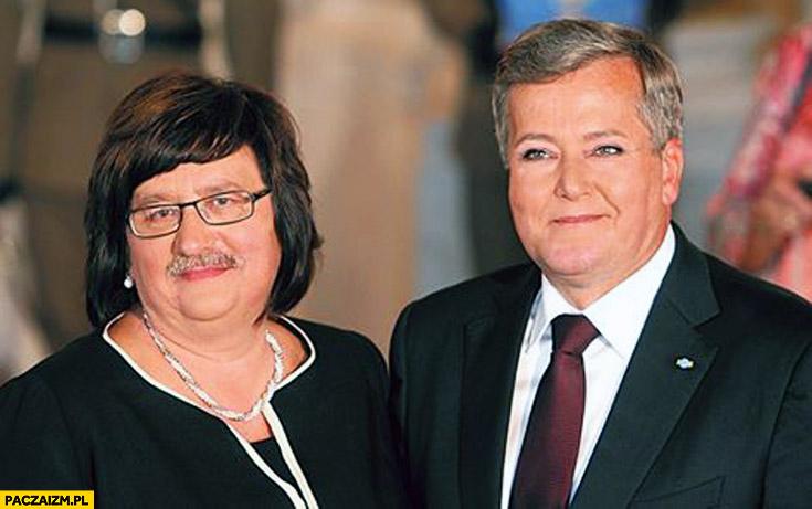 Anna Komorowska Bronek Komorowski zamiana twarzy faceswap