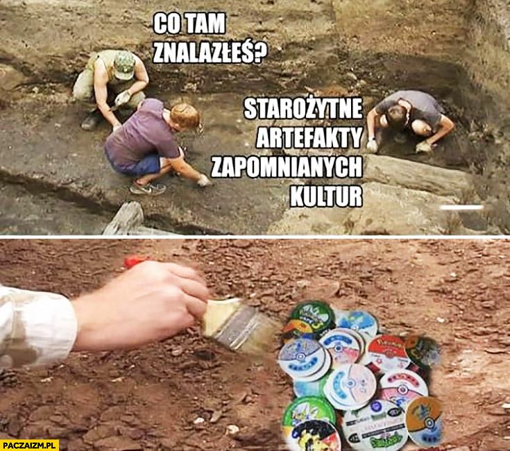Archeolodzy co tam znalazłeś? Starożytne artefakty zapomnianych kultur Pokemon żetony