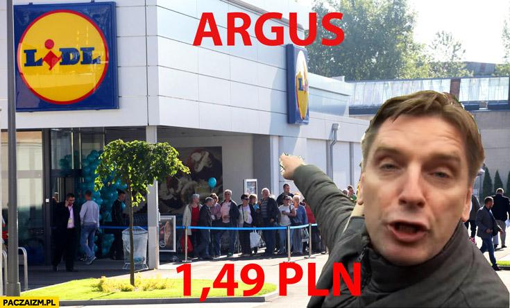 Argus po 1,49 PLN Tomasz Lis piwo promocja w Lidlu demonstracja KOD