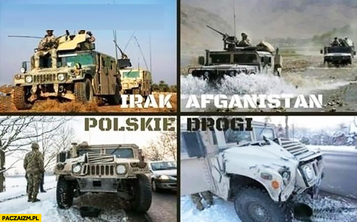 Armia USA Irak, Afganistan, polskie drogi same wypadki fail