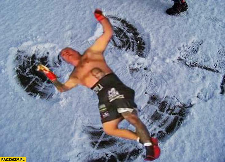 Artur Szpilka nokaut aniołek na śniegu przeróbka