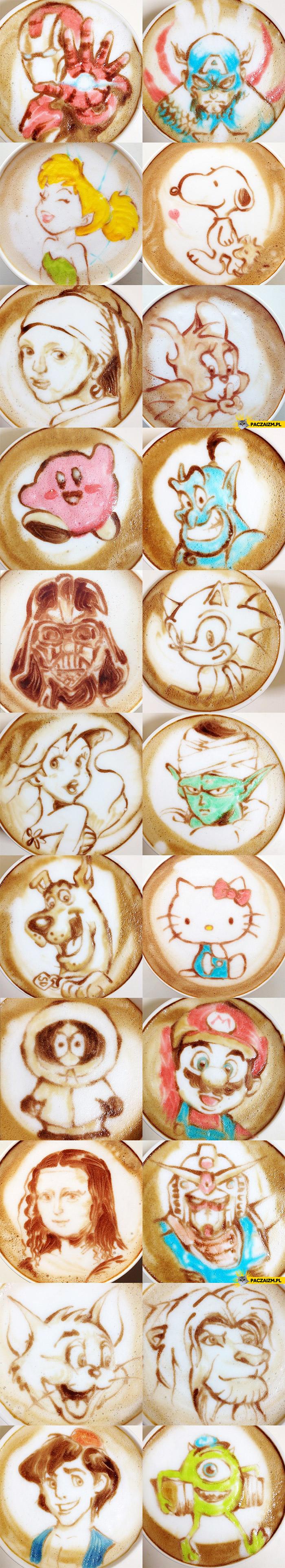 Artystyczna kawa latte