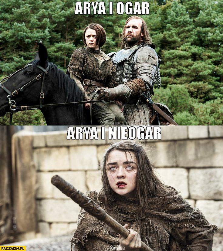 Arya i Ogar, Arya i nieogar Gra o Tron