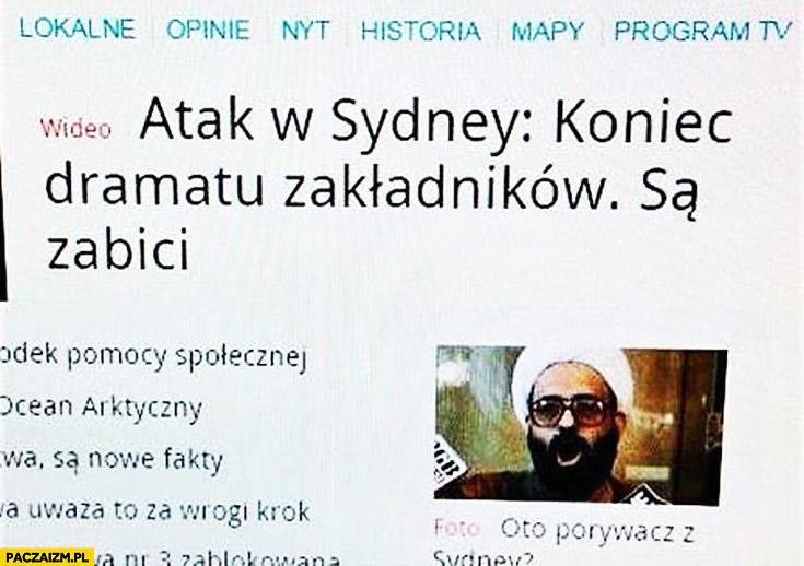 Atak w Sidney koniec dramatu zakładników są zabici
