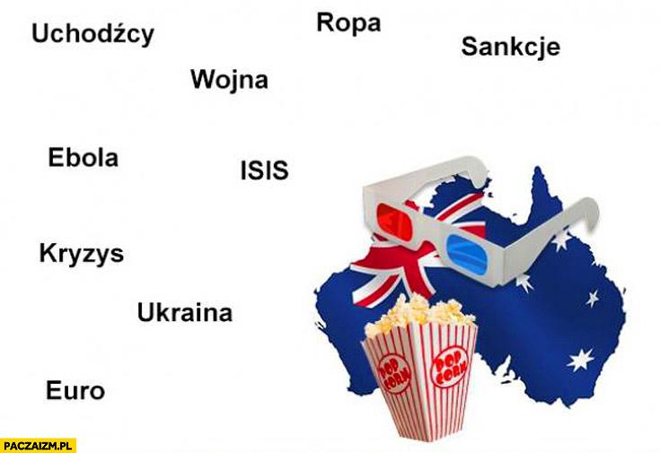 Australia popcorn ropa wojna uchodźcy sankcje ISIS kryzys Ukraina ebola