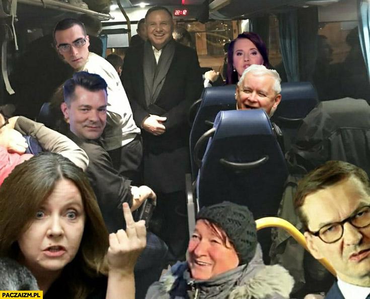 Autobus Dudy przeróbka Zenek Quebonafide Kaczyński Lichocka Holecka Morawiecki