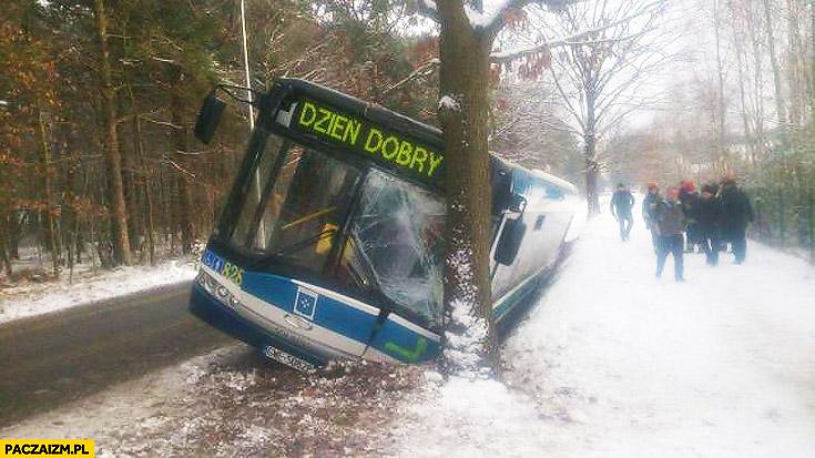 Autobus dzień dobry wypadek