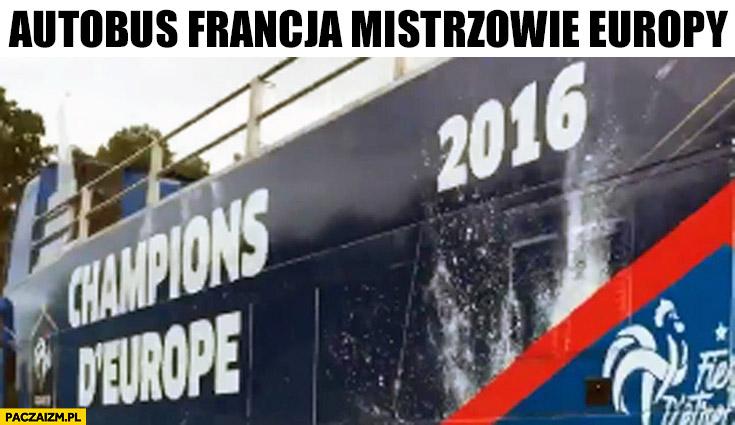 Autobus Francja mistrzowie Europy