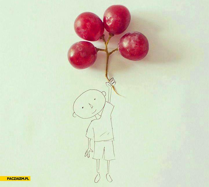 Balony z winogron