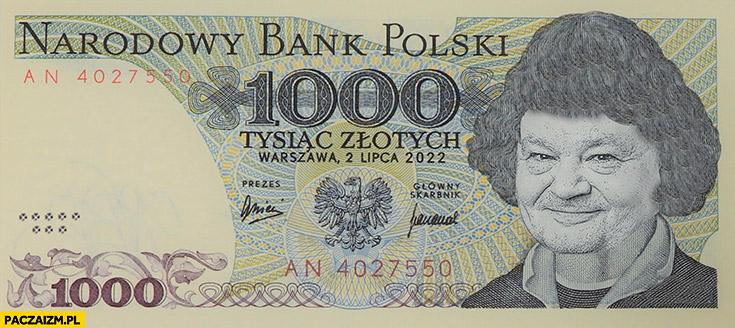 Banknot 1000 złotych prezes NBP Glapiński Kopernik przeróbka