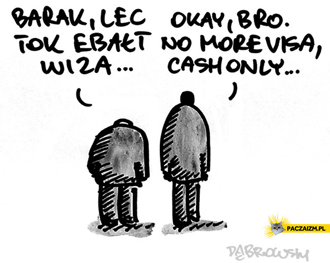 Barak no more visa cash only