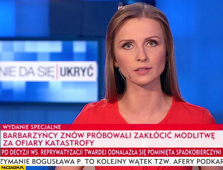 Barbarzyńcy znów próbowali zakłócić modlitwę za ofiary Katastrofy Smoleńskiej Wiadomości TVP