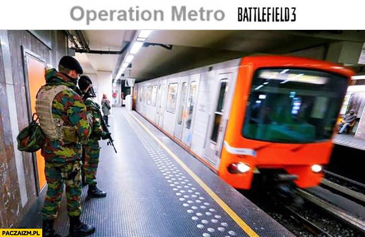 Battlefield: Operation metro gra zamachy w Brukseli Belgii