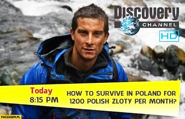 Bear Grylls jak przeżyć w Polsce za 1200 zł miesięcznie