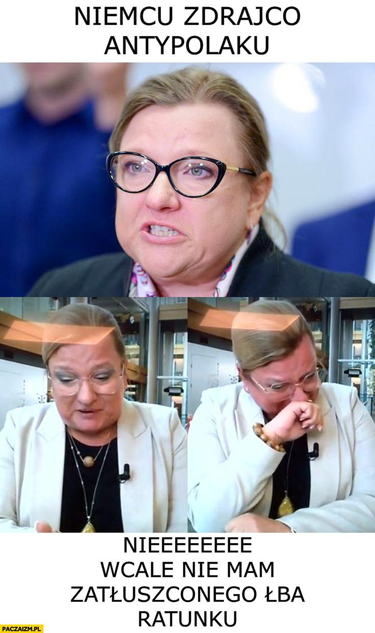 Beata Kempa niemcu, zdrajco, antypolaku vs nie wcale nie mam zatłuszczonego łba ratunku