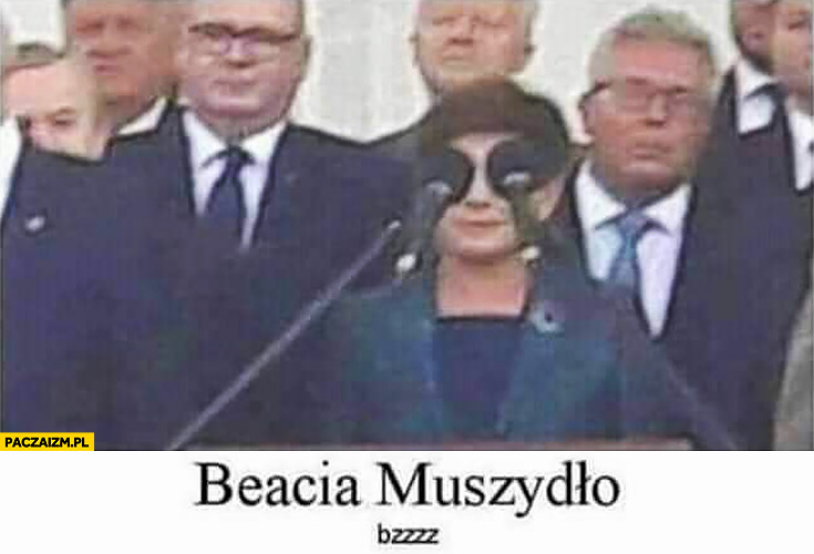 Beata Muszydło bzzz Beacia mikrofony w miejscu oczu