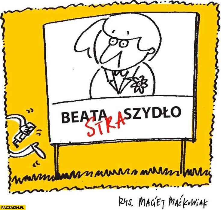Beata Straszydło przeróbka na plakacie Szydło