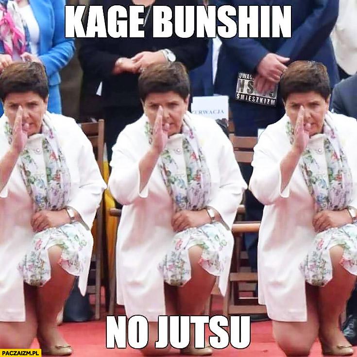 Beata Szydło Naruto kage bunshin no jutsu karate