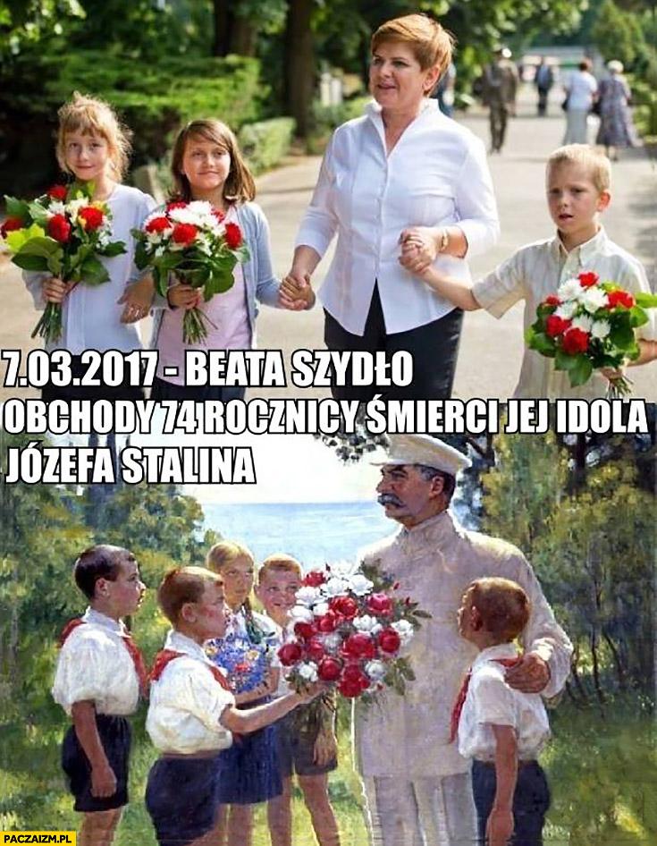 Beata Szydło obchodząca rocznicę śmierci jej idola Józefa Stalina