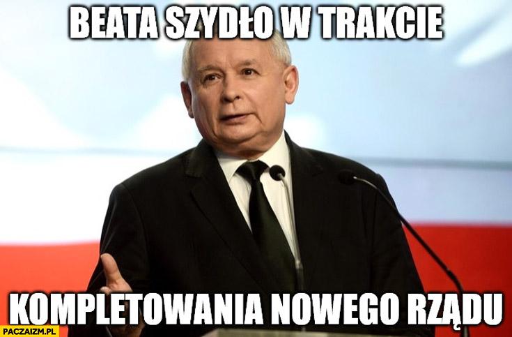Beata Szydło w trakcie kompletowania nowego rządu Kaczyński