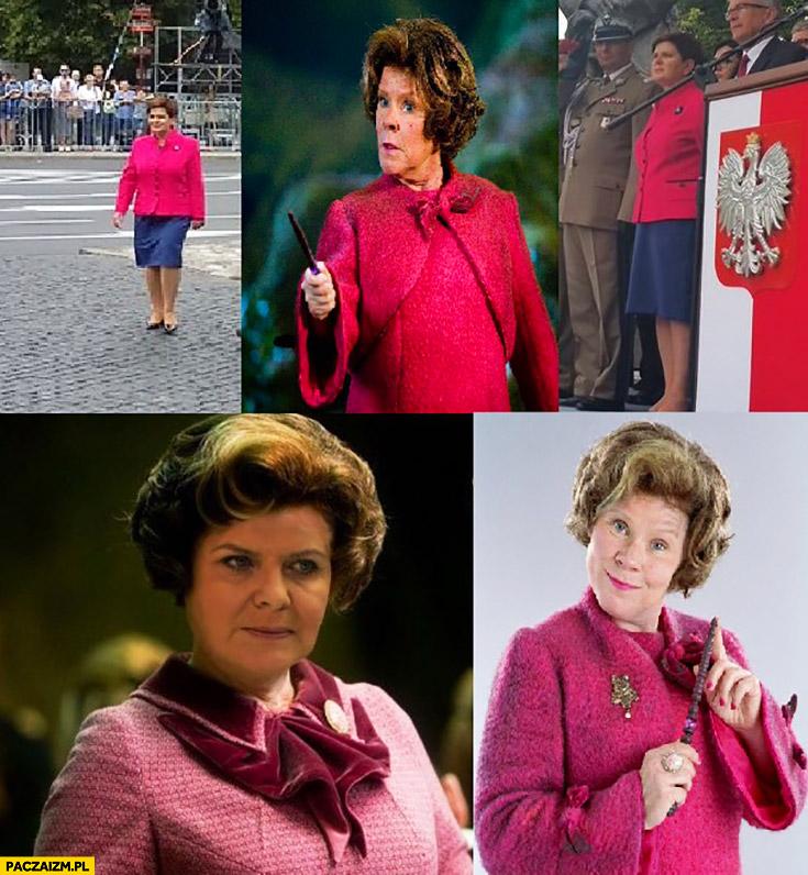 Beata Szydło wygląda jak Dolores Umbridge