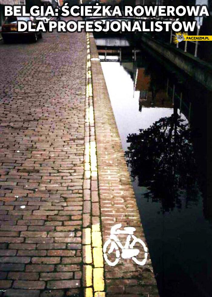 Belgia ścieżka rowerowa dla profesjonalistów