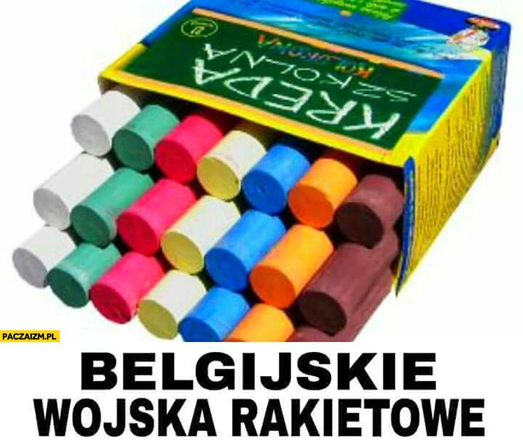Belgijskie wojska rakietowe kreda paczka kredy