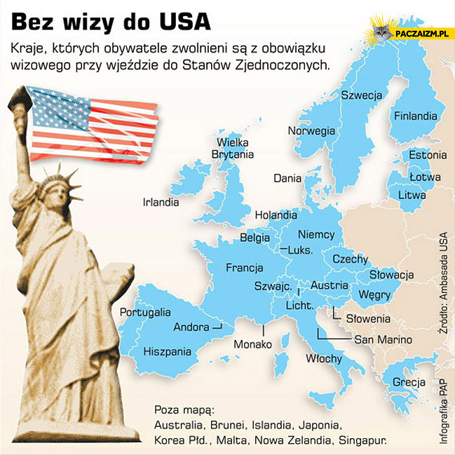 Bez wizy do USA