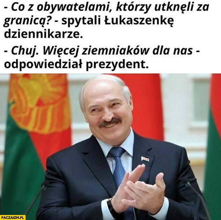Białoruś Łukaszenka co z obywatelami za granicą? Nic, więcej ziemniaków dla nas