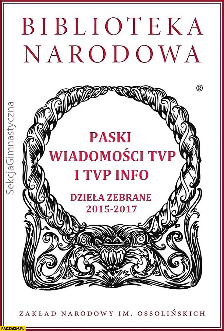 Biblioteka Narodowa paski wiadomości TVP i TVP Info dzieła zebrane sekcja gimnastyczna
