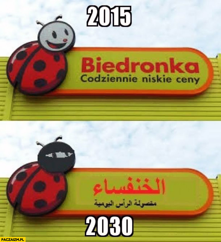 Biedronka 2015 2030 muzułmańska