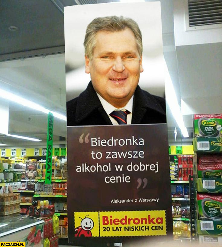 Biedronka to zawsze alkohol w dobrej cenie Aleksander z Warszawy