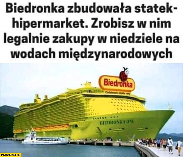 Biedronka zbudowała statek hipermarket zrobisz w nim legalnie zakupy w niedzielę na wodach miedzynarodowych