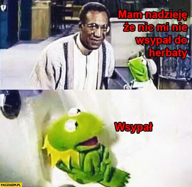 Bill Cosby Kermit mam nadzieję że nic mi nie wsypał do herbaty