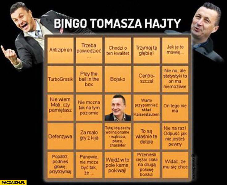 Bingo Tomasza Hajty cytaty komentarze