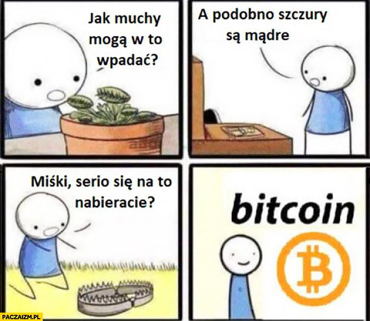 Bitcoin pułapka pułapki jak muchy mogą w to wpadać, a podobno szczury są mądre