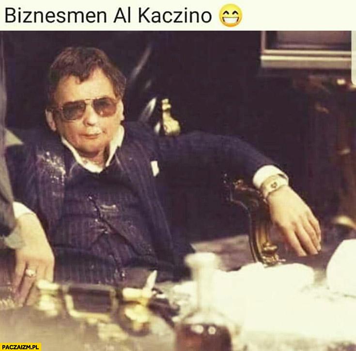 Biznesmen Al Kaczino Al Pacino przeróbka mafioso