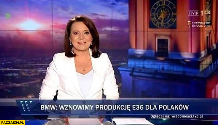 BMW: wznowimy produkcje E36 dla Polaków pasek Wiadomości TVP