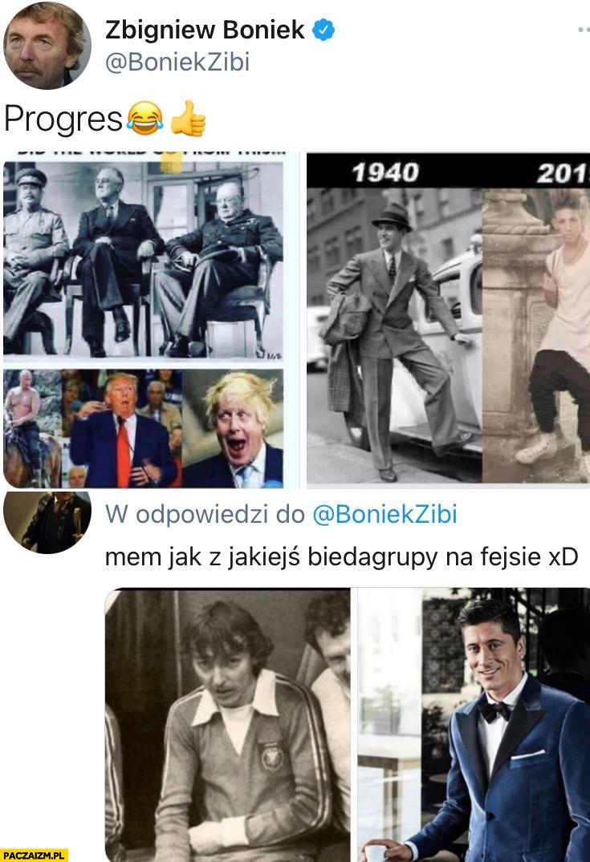 Boniek porównanie moda męska kiedyś i dziś Lewandowski
