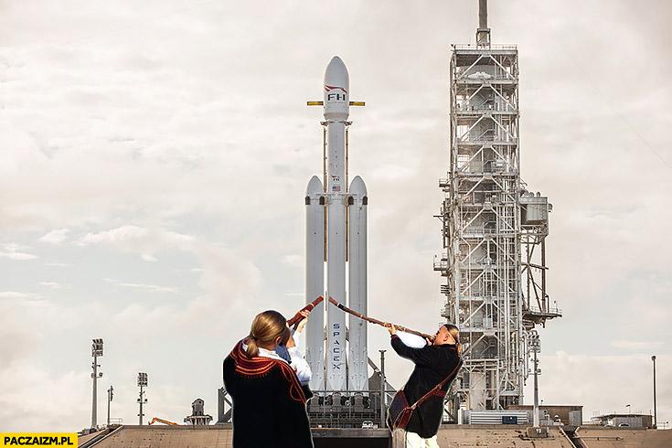 Bracia golec pierdolec dmuchają graja na SpaceX Falcon heavy