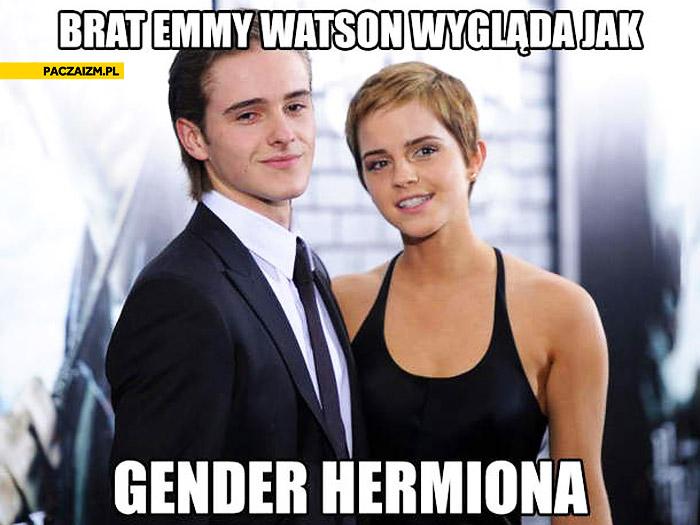 Brat Emmy Watson wygląda jak gender Hermiona