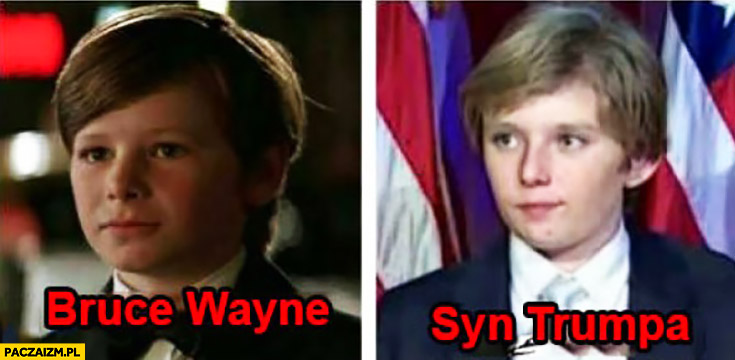 Bruce Wayne syn Trumpa porównanie