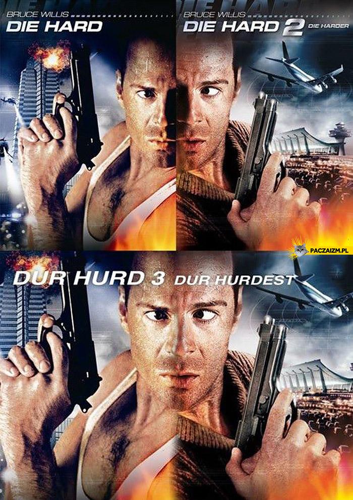 Bruce Willis połączone plakaty Die Hard Szklana pułapka