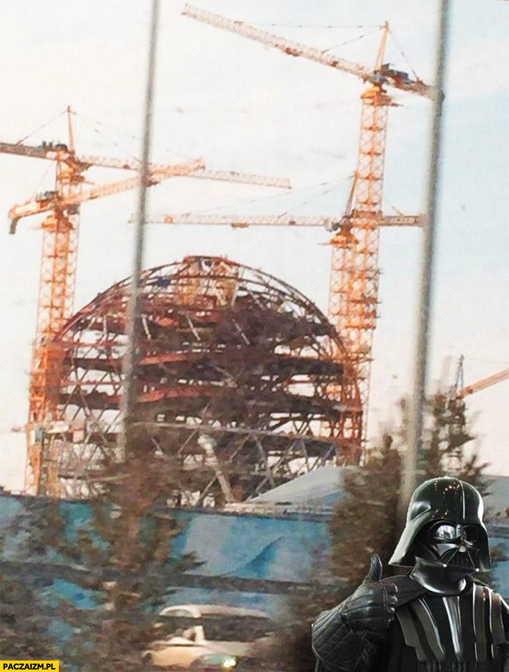 Budują Gwiazdę Śmierci Genewa budynek CERN Darth Vader